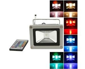 10W RGB LED Outdoor Flood Light Landscape Lamps Projector Remote Controller