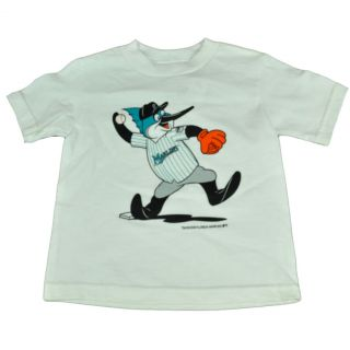 MLB Majestic Florida Miami Billy The Marlins Toddler Tshirt Kids Youth Tee