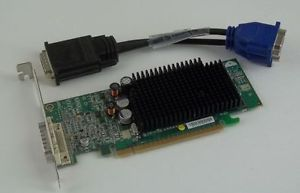 Dell ATI Radeon X600 Graphics Card 256 MB DMS 59 Dual Display PCIe Tall Bracket