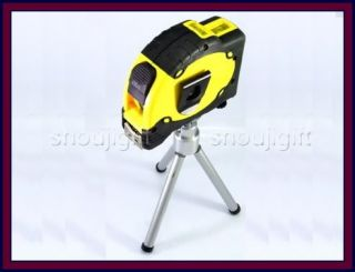Cross Line Laser Level Aligner w Tripod Magnet Legs 25' ft 7 5M Lock Tape