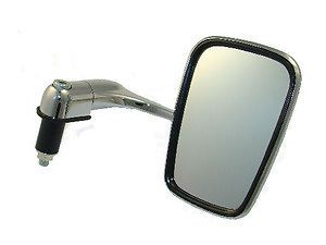 Chrome Bar End Mirror Mirrors Bratstyle Rat Bike KZ440 CB350 Bobber Motorcycle