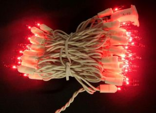 Christmas Wedding 1 Set 100 Lights Red White Cord 25 ft Long
