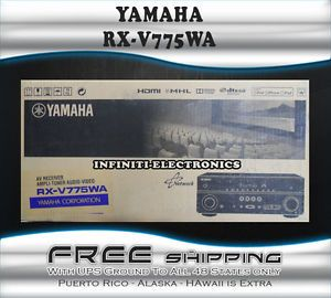 New Yamaha RX V775WABL 7 2 Channel Home Theater Networking AV Receiver RXV775WA