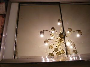 Vintage Hall Mack Art Deco Lighted Medicine Cabinet Mirror Glass Shelves Large