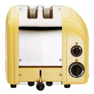 Dualit Chrome Retro Toaster Canary Yellow 619743202925