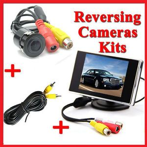 "3 5"" LCD Screen Monitor Car Rear View Reversing Camera Security Parking System"
