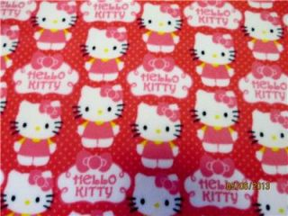 Soft and Warm Infant Toddler Pink White Dots Hello Kitty Fleece Blanket Lap Car