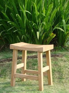 Curved Seat Shower Bath Spa Stool Bench Grade A Teak Wood Outdoor Garden Patio