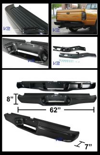 95 04 Toyota Tacoma Rear Bumper Step Pad Bracket 1pc Black Stainless