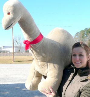 Big Plush Dinosaur Giant Stuffed Brontosaurus Is 4 Feet Long and 3 Feet Tall