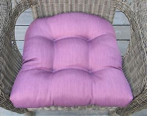"Wicker Indoor Outdoor Seat Chair Cushion Solid ""Plum Berry"" Plum Purple"