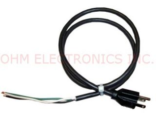 "3' Foot 6"" Power Cord Pigtail 16 3 SJT 5 15P 3 Prong"