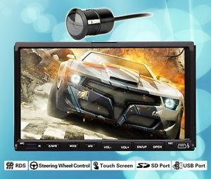 "HD OEM Double 2 DIN 7"" Touch Screen Car Stereo DVD Player Radio Hitachi CD Head"