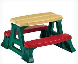 Children Kids Furniture Picnic Table Outdoor Patio Girls Boys New CLEARANCE