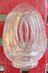 Vintage Glass Bird Cage Hendryx Crown Water Dish Feeder U s A Art Deco Clear