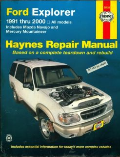 1991 1992 1999 2000 Ford Explorer Mazda Navajo Mountaineer Repair Manual