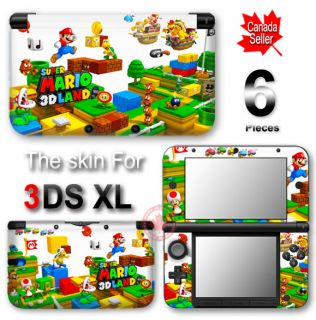 Super Mario 3D Land Decal Skin Vinyl Sticker Cover for Nintendo 3DS XL