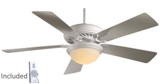 "F569 WH Minka Aire Supra White 52"" Ceiling Fan with Remote Control"