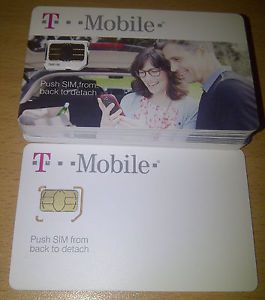 T Mobile Original Micro Sim Card 3G 4G T Mobile Unactivated iPhone 4 Android