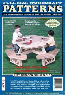 Kid's Octagon Picnic Table Woodcraft Woodworking Plan