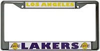 Los Angeles Lakers Car Chrome Metal License Plate Frame NBA Basketball