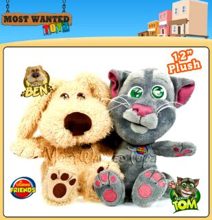 "Talking Ben or Tom 12"" Large Soft Plush iPhone Android App Character Toy Sounds"