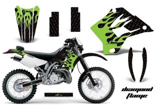AMR Racing Motorcycle Graphic Wraps Decal MX Kit Kawasaki KDX 200 220 95 08 DMGK