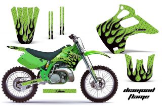 Kawasaki KX 125 250 Graphic Kit AMR Racing Decal Sticker KX125 KX250 92 93 DF GB