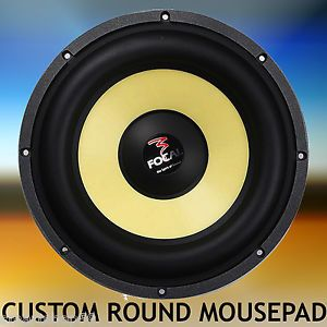 Computer Round Mouse Pad Focal K2 Power Car Audio Subwoofer Amplifier Mouse Mat