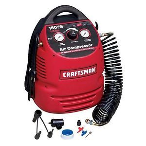 Craftsman 1 5 Gallon Portable Air Compressor w Hose and 8PC Accessory Kit 15309