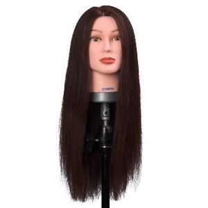 Mannequin Head Sharon Brown Extra Long Length 100 Human Hair