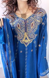 2 Layers Beaded Prom Party Abaya Wedding Dress Gown Embroided Embellished Arabic