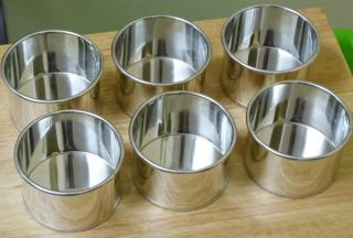 6 x New Professional Round Aluminium Mini Small Bake Cake Tin Pan 85mm x 55mm
