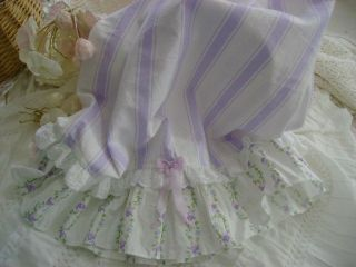 S P Original HM Ruffled Travel Pillow Sham Simply Shabby Chic Lavender Jewel