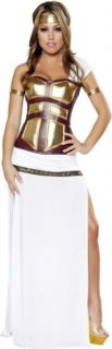 Adult Women Warrior Athena Greek Roman Queen Goddess Costume Halloween Outfit
