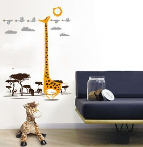 Removable Supernatural Giraffe Wall Stickers Kid's Room Decoration Decals