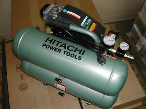 Hitachi 4 Gallon Twin Stack Tank Air Compressor Portable Compact Electric EC89