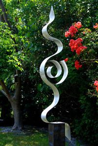 "Modern Abstract Outdoor Painted Metal Art Sculpture ""Looking Forward"" Jon Allen"