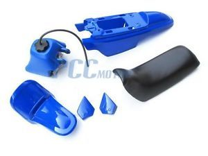 Yamaha PW50 PW 50 Plastic Seat Gas Tank Kit Blue PS38