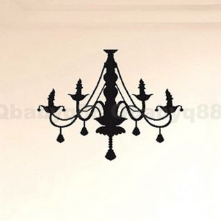 Chandelier Wall Decals Removable Stickers Decor DIY Home Art Mural Living Room