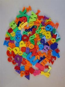 Refridgerator Magnetic Letters Numbers Shapes and Animals Great for Daycare