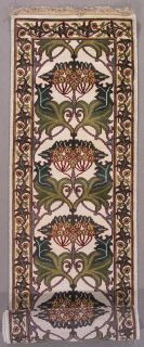 3x24 Signed Ivory William Morris Art Craft Design Wool Runner Area Rug Carpet