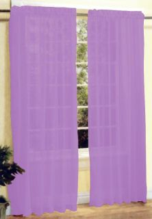 New 2 Pieces Sexy Sheer Voile Window Curtain Panel Set Light Purple