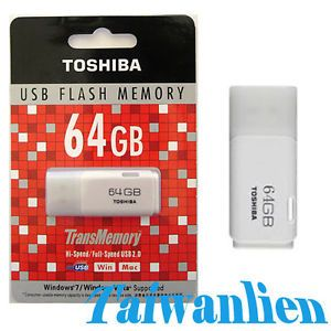 Toshiba 64GB 64G Transmemory USB Flash Pen Drive Memory Stick Key Thumb 022265347355
