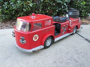 1960s Buddy L Texaco Fire Truck Seagrave Big 2 Feet Long Metal Promo Chief Nice