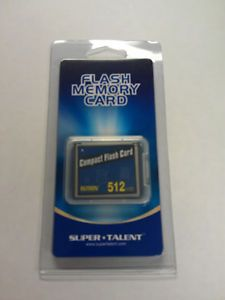 Intron Super Talent Compact Flash Card CF 512MB Brand New