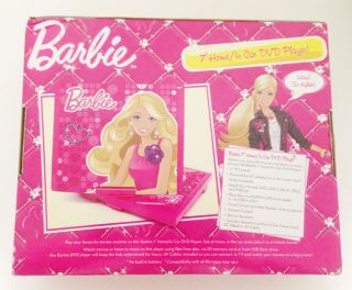 Barbie Portable DVD Player For Car Kids Girls Pink with USB Port 7 inch BNIB