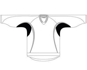 New Senior 3 Color Hockey Jersey with Name and Number White Gray Black