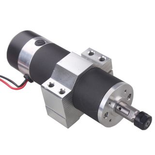 600W DC24V 110VDC High Speed Air Cooled Spindle Motor with Mount Bracket