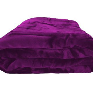 Super Soft Purple Fleece Mink Plush Blanket Full Queen